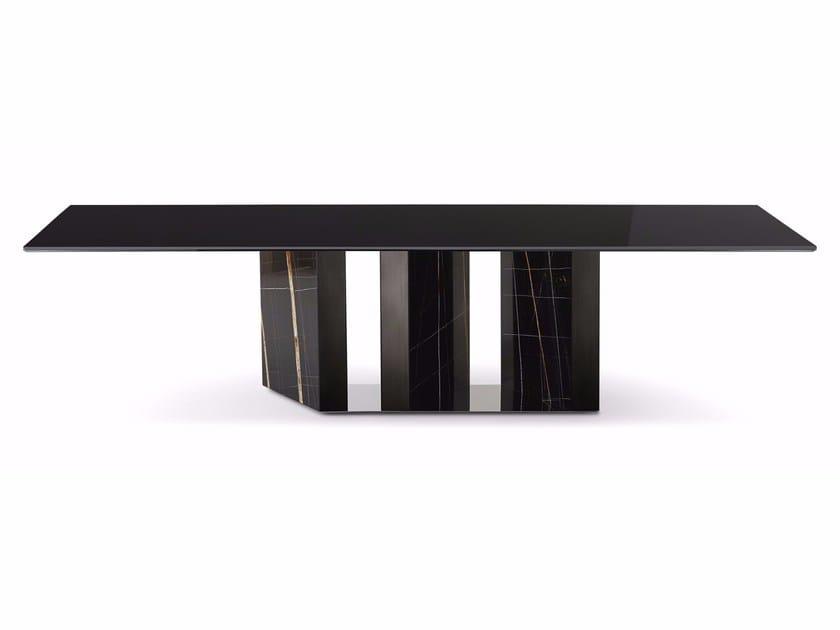 Tavolo da pranzo rettangolare in cristallo PLATIUM by Gallotti&Radice