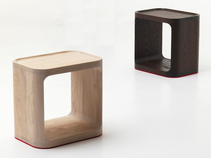 Sgabello / tavolino in frassino PLATO | Tavolino in frassino by BALERI ITALIA