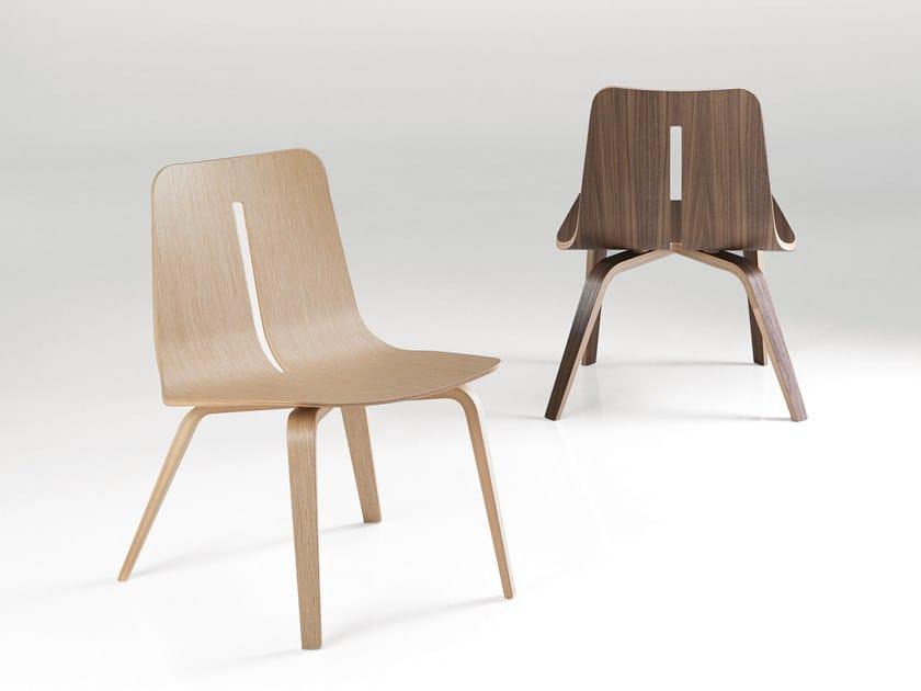 Wooden easy chair PLATONE | Easy chair by Caimi Brevetti