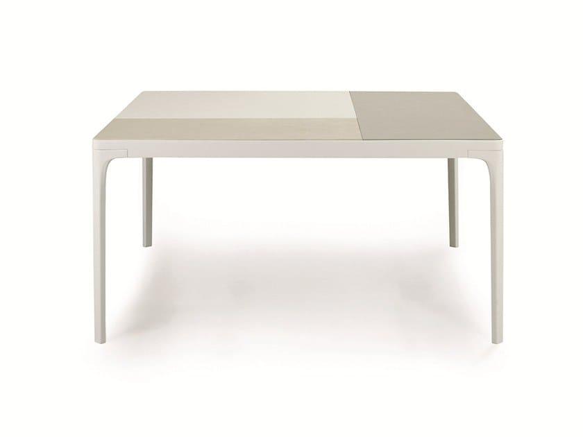 Square porcelain stoneware garden table PLAY | Porcelain stoneware table by Ethimo