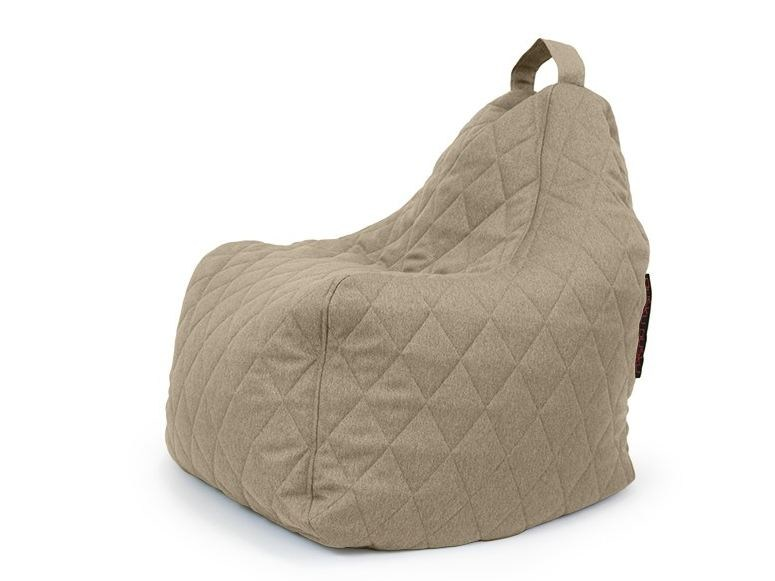Fabric bean bag with removable cover PLAY QUILTED NORDIC by Pusku pusku
