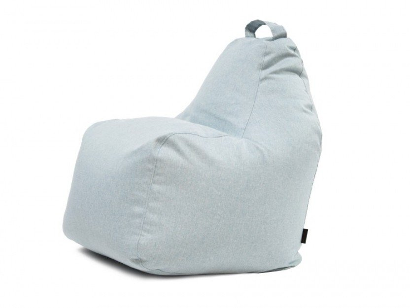 Upholstered fabric bean bag with removable cover PLAY RIVIERA by Pusku pusku