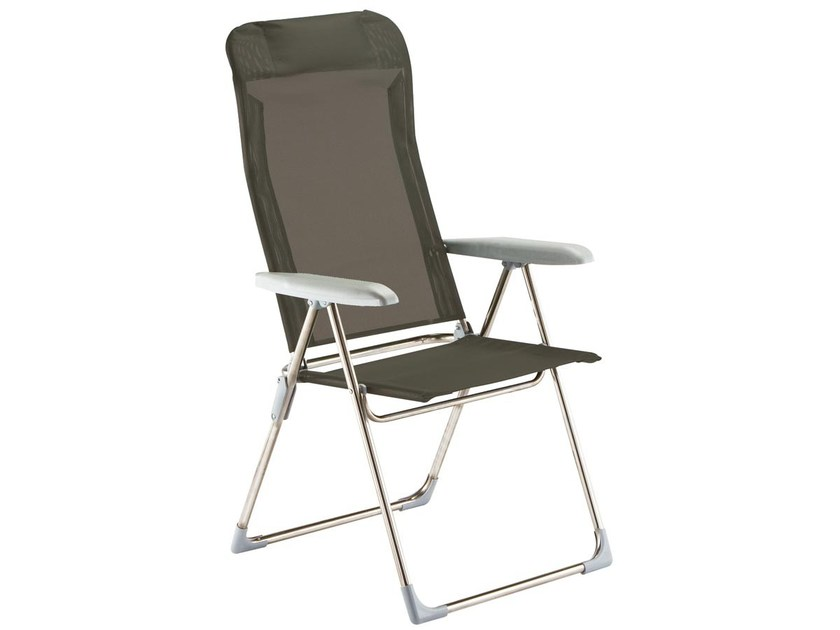 Recliner deck chair with armrests PLAYA by FIAM