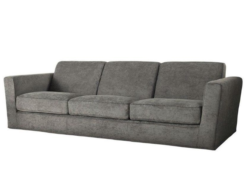 3 seater fabric sofa with removable cover PLAZA | 3 seater sofa by Casamilano