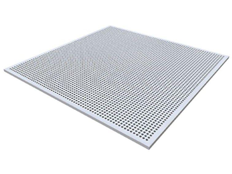 Gypsum ceiling tiles PLAZA GLOBE G1 by Knauf Italia
