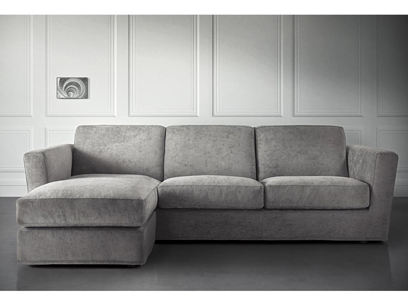 Fabric sofa with chaise longue PLAZA   Sofa with chaise longue by Casamilano