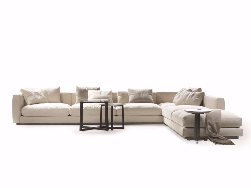 Sectional fabric sofa PLEASURE by FLEXFORM