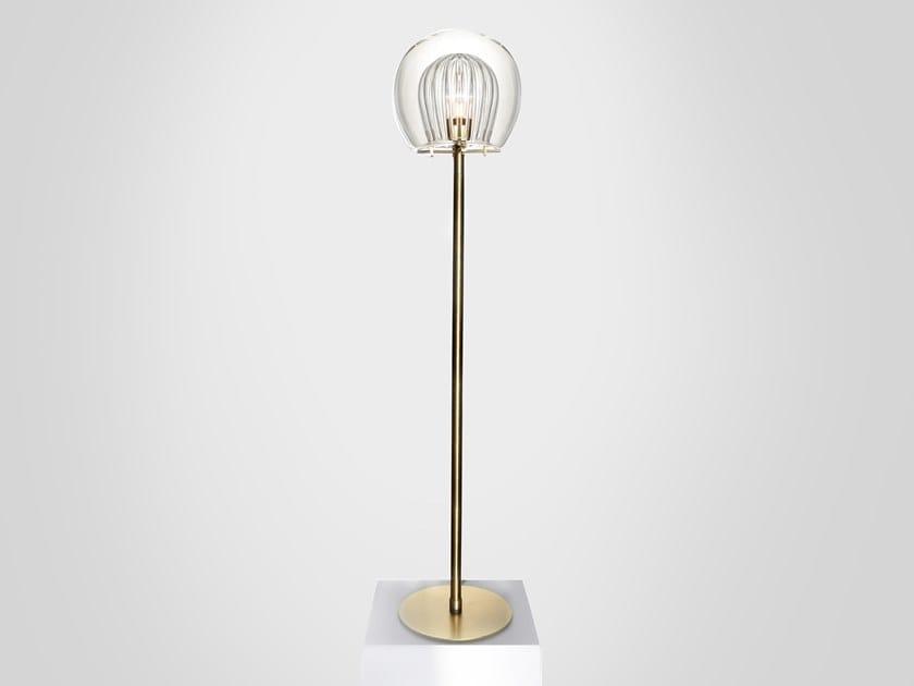 LED metal floor lamp PLEATED CRYSTAL | Floor lamp by Marc Wood Studio