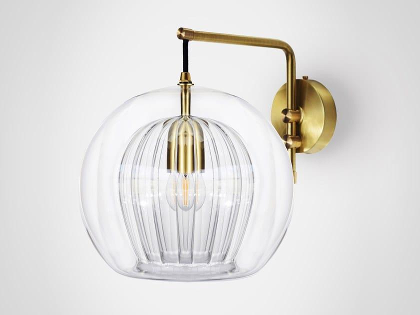 Borosilicate glass wall lamp PLEATED CRYSTAL | Wall lamp by Marc Wood Studio