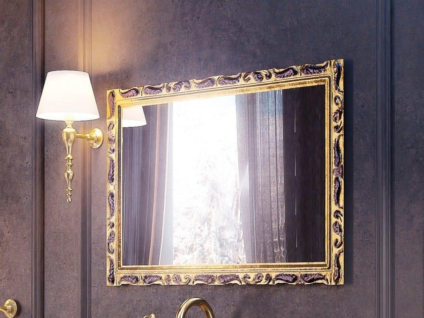 Wall-mounted framed bathroom mirror PLEIADI SET ONE | Mirror by LINEAG