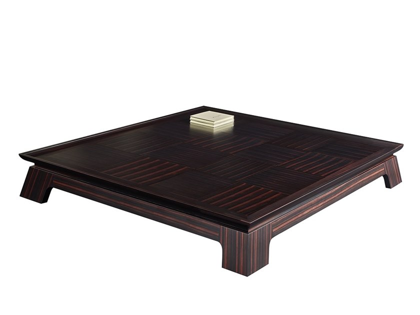 Square wooden coffee table for living room PLENILUNE | Square coffee table by Promemoria