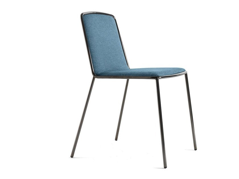 Upholstered fabric chair PLETRA by Lago