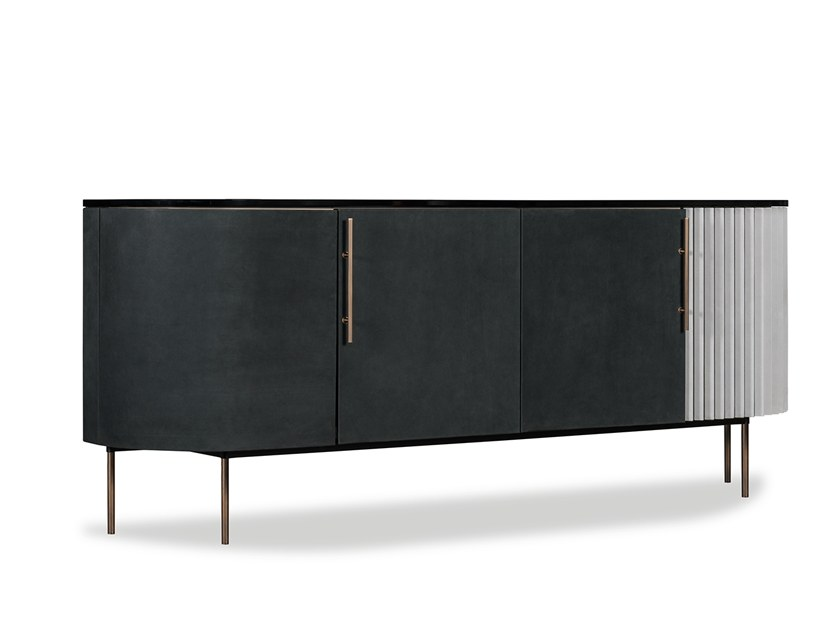 Fresh Black Lacquer Buffet Cabinet