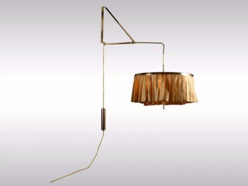 Indirect light fabric wall lamp PLISSEE by Woka Lamps Vienna