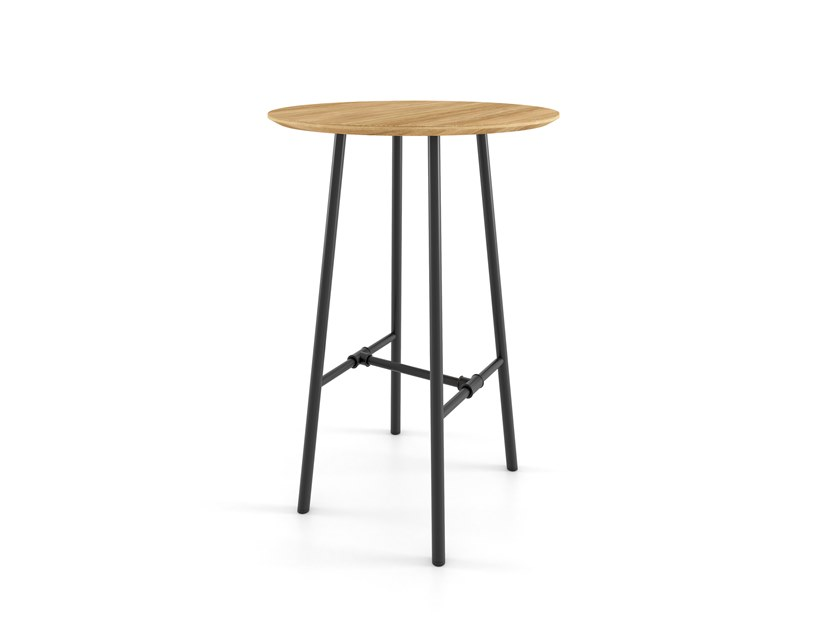 Contemporary style rectangular wooden high table PLOMBIER | High table by ESTEL GROUP