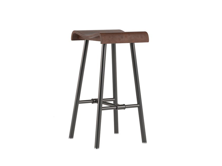 Wooden stool PLOMBIER | Stool by ESTEL GROUP