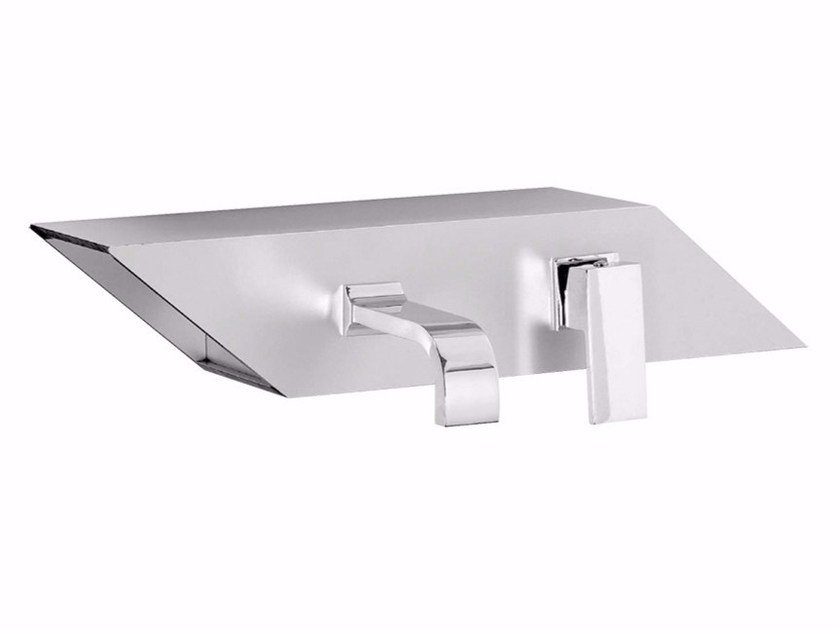 Wall-mounted single handle washbasin mixer PLP - FPLP030B3 by Rubinetteria Giulini