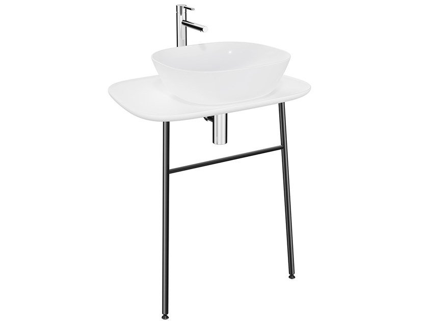 Low ceramic console sink PLURAL LOW | Console sink by VitrA Bathrooms