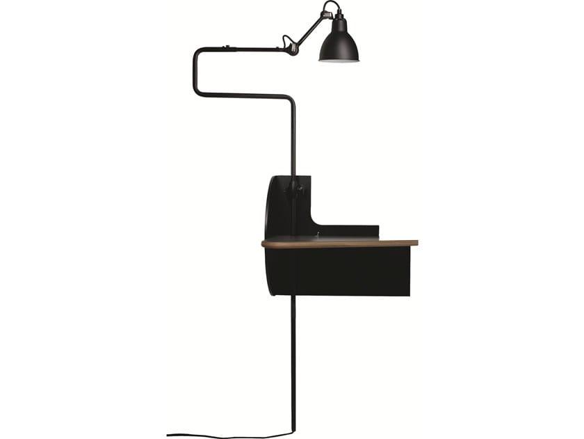 Comodino sospeso in acciaio e legno PLUG & DREAM by DCW éditions