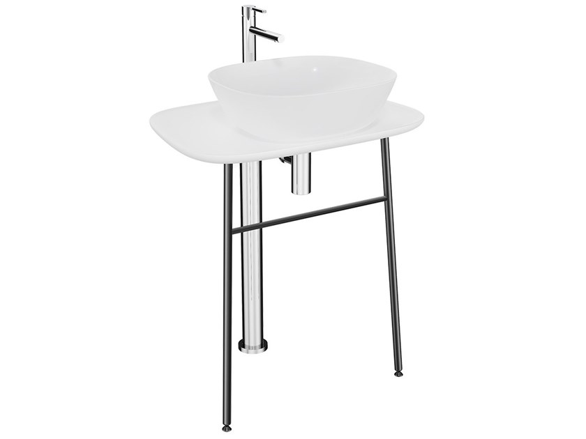 Low ceramic console sink PLURAL LOW | Ceramic console sink by VitrA Bathrooms