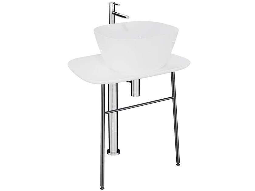 Consolle lavabo in ceramica PLURAL HIGH | Consolle lavabo in ceramica by VitrA Bathrooms