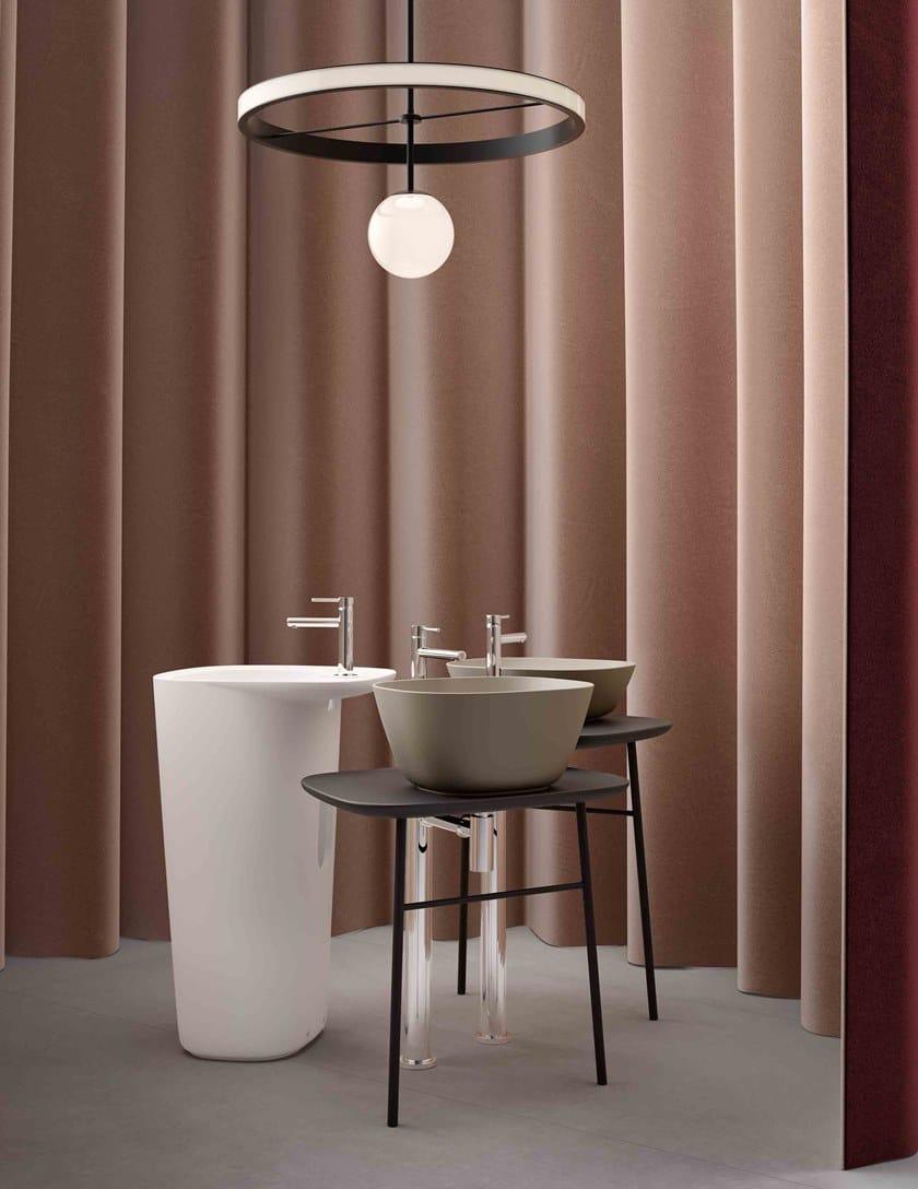 PLURAL HIGH   Consolle lavabo in ceramica