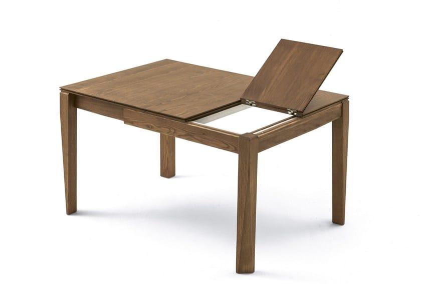 Tavolo allungabile da salotto quadrato PLURIMO | Tavolo in legno ...