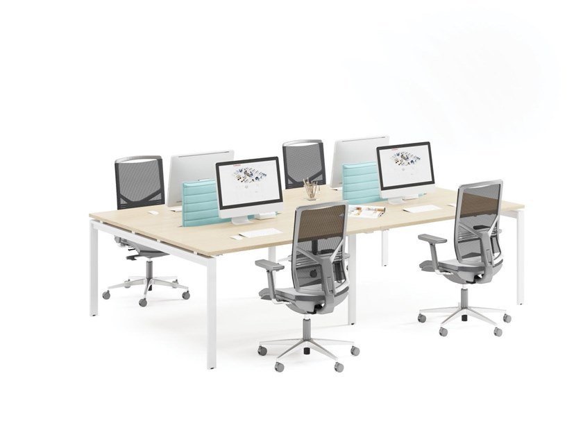 Multiple office workstation PLURIS | Office workstation by FURNIKO