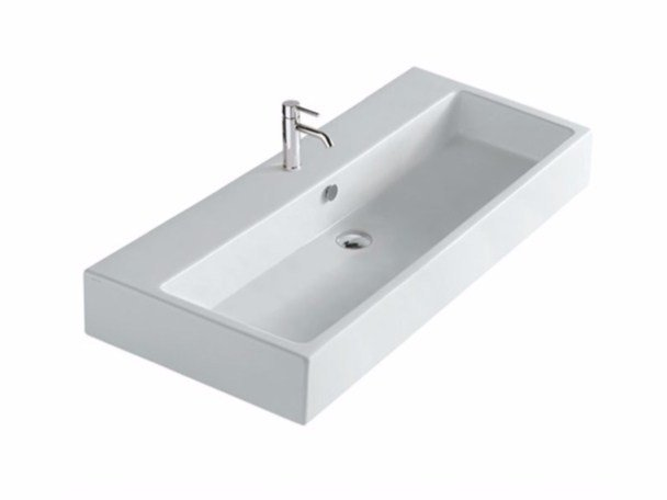 Lavabo rectangulaire en céramique PLUS DESIGN 100 | Lavabo by GALASSIA
