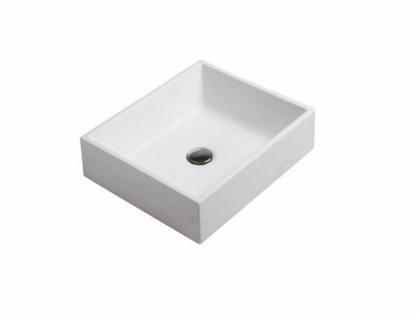 Countertop rectangular ceramic washbasin PLUS DESIGN 45 | Countertop washbasin by GALASSIA