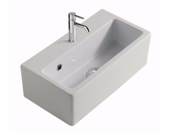 Rectangular ceramic washbasin PLUS DESIGN 50 | Washbasin by GALASSIA