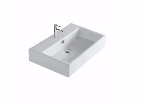 Rectangular ceramic washbasin PLUS DESIGN 60 | Washbasin by GALASSIA