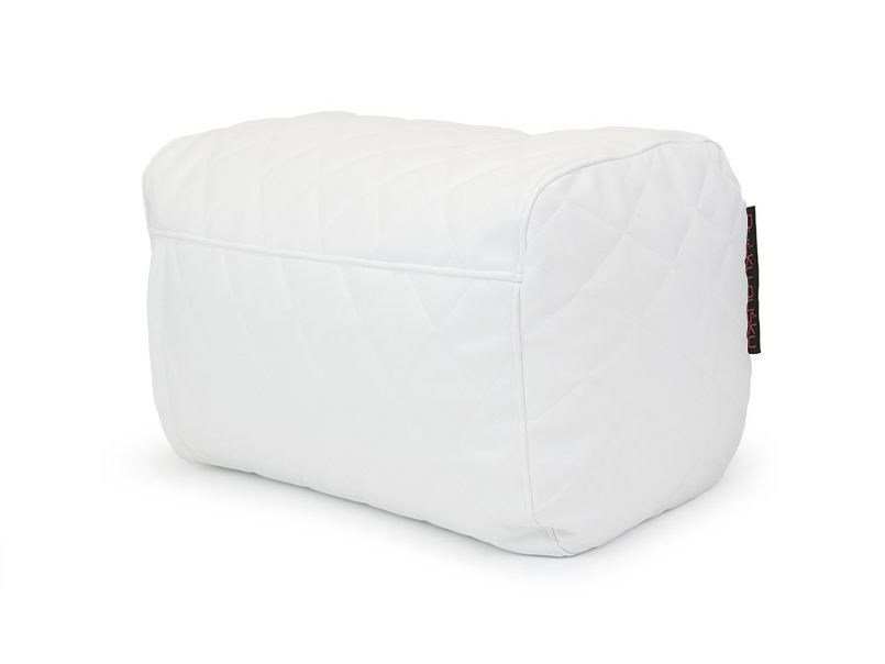 Rectangular leather pouf PLUS QUILTED OUTSIDE by Pusku pusku