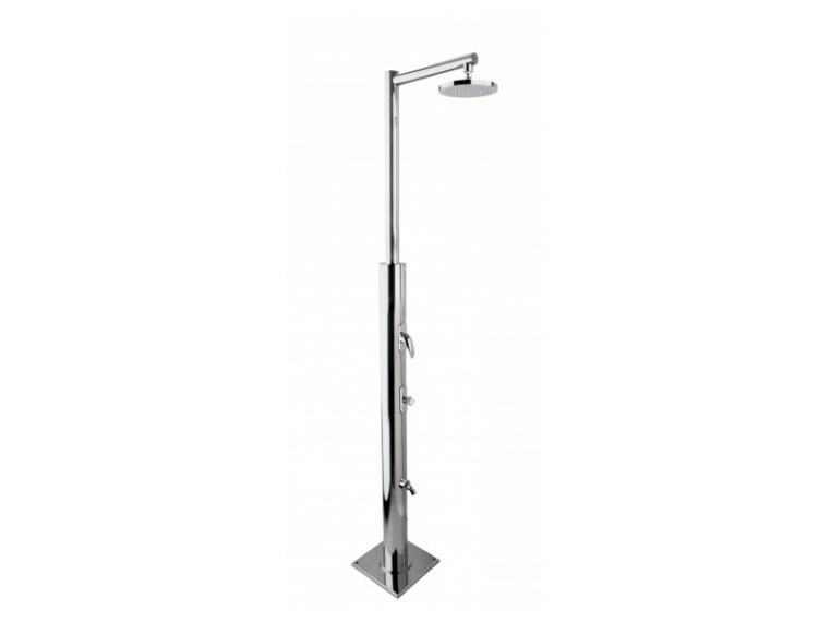 Stainless steel outdoor shower PLUTONE by Ama Luxury Shower
