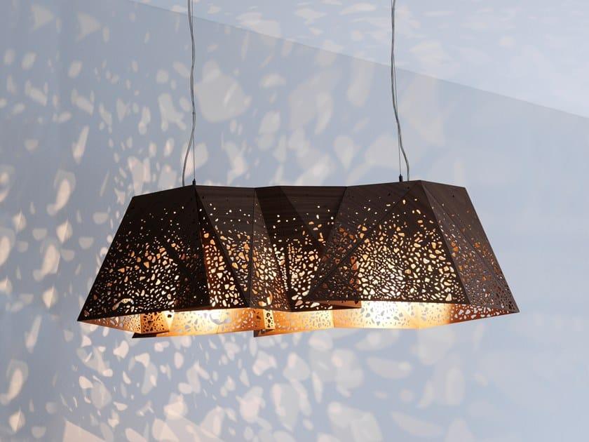 Walnut chandelier PLYWOOD CHANDELIER by Casamania & Horm