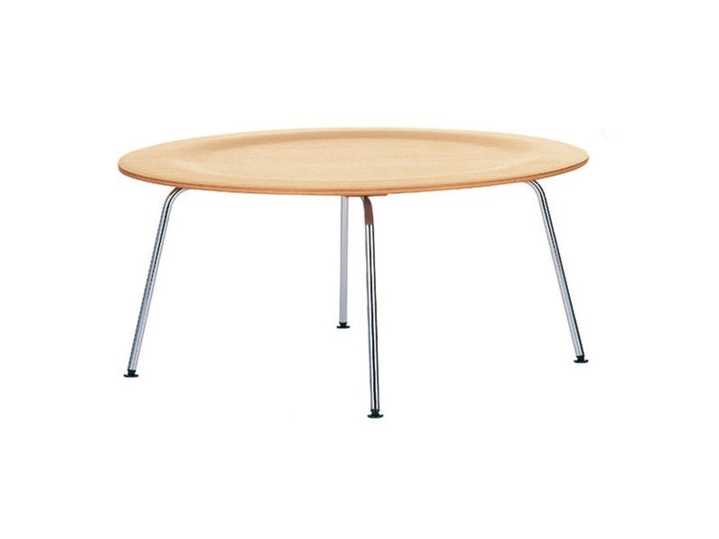 Design Round Steel Coffee Table For Living Room Plywood Group Ctm By Vitra