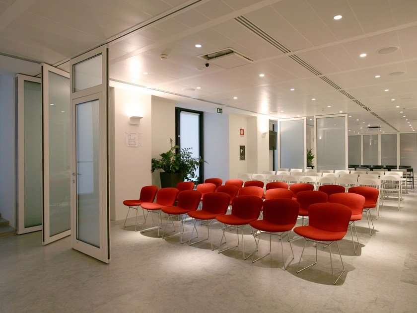 Glass movable sound-proof partition walls PMIV - GLASS by ANAUNIA