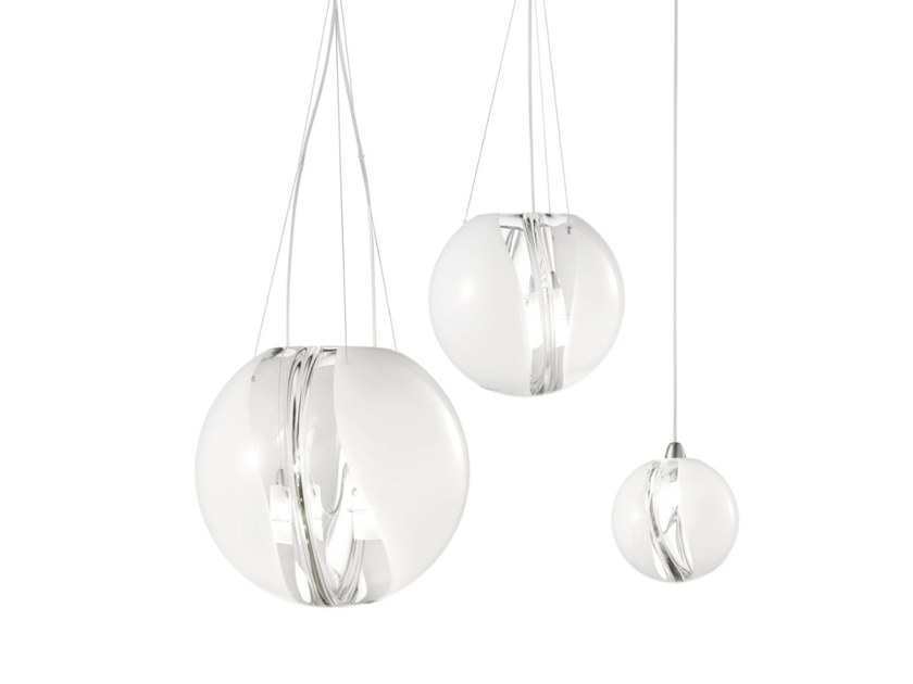 Glass Pendant Lamp Poc Sp By Vetreria Vistosi Design Barbara Maggiolo