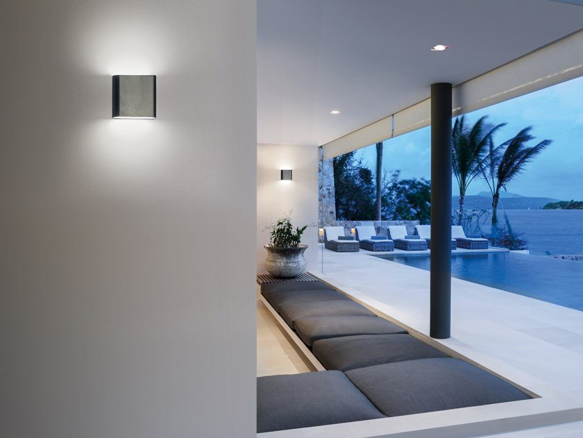 Applique per esterno a LED a luce diretta e indiretta POCKET by SIMES