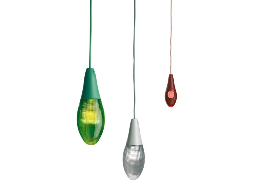 Contemporary style LED plastic pendant lamp POD LENS by LUCEPLAN