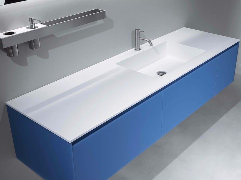 Double Flumood® washbasin countertop PODIO by Antonio Lupi Design