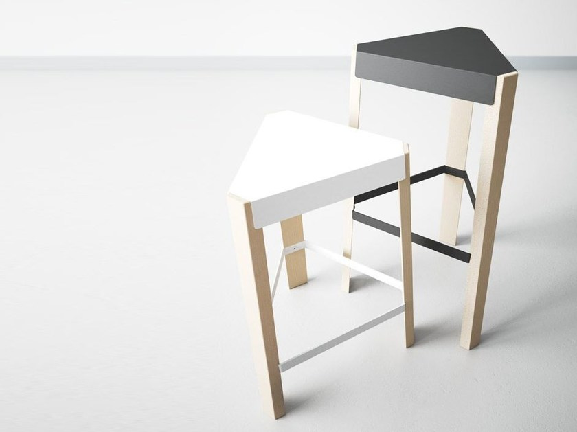 Barstool with footrest PODIO | Barstool by CANCIO