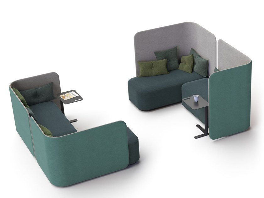 Sofá composable modular PODLOUNGE by Martela