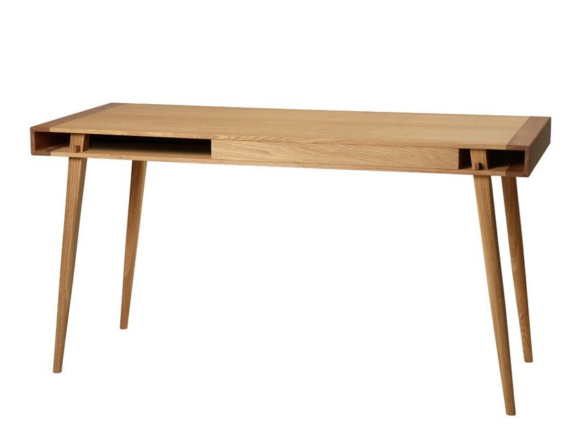 Solid Wood Secretary Desk Poet By Nordic Tales