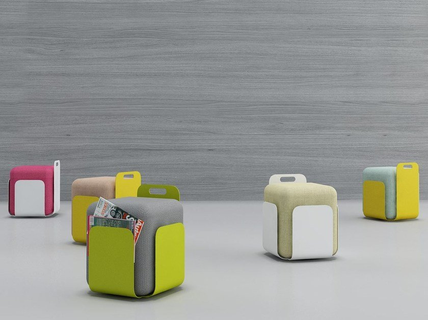 Upholstered square pouf POFF PUF by Tuna Ofis