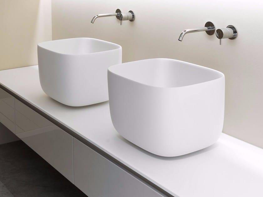 Design Bagno Poggio Piccolo : Lavabo da appoggio in flumood® poggio antonio lupi design