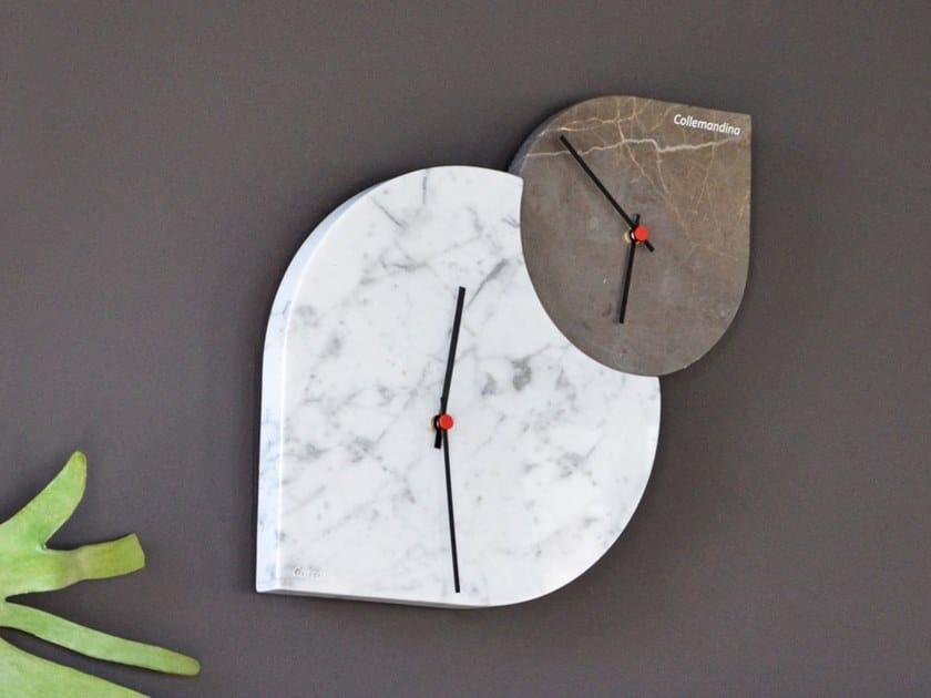 Wall-mounted marble clock POGGIO by FranchiUmbertoMarmi