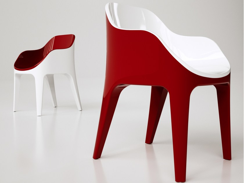 Adamantx® easy chair with armrests POINTER by ZAD ITALY