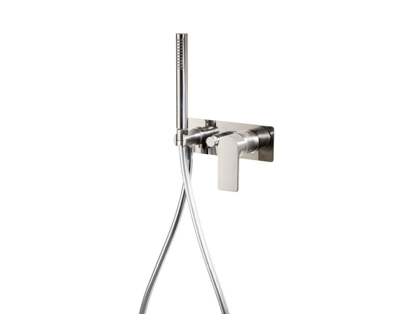 Wall-mounted bathtub mixer with hand shower POIS | Bathtub mixer by RITMONIO