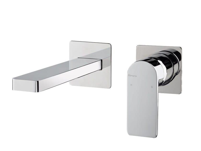 Wall-mounted single handle washbasin mixer POIS | Wall-mounted washbasin mixer by RITMONIO